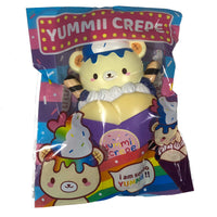 Creamiicandy Yummii Crepe Squishy blueberry version front view in packaging