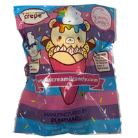Creamiicandy Yummii Crepe Squishy blueberry version rear view in packaging