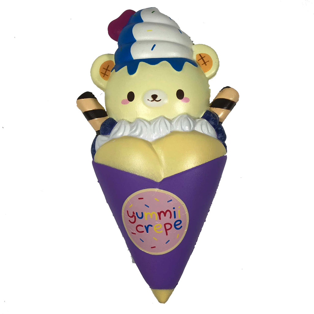 Creamiicandy Yummii Crepe Squishy blueberry version front view