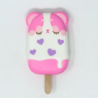 iBloom Harajuku Bear Ice Candy Squishy pink version front view