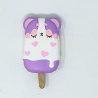 iBloom Harajuku Bear Ice Candy Squishy galaxy version front view purple version