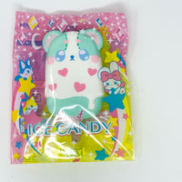 iBloom Harajuku Bear Ice Candy Squishy galaxy version front view green version in packaging