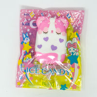 iBloom Harajuku Bear Ice Candy Squishy galaxy version front view pink version in packaging