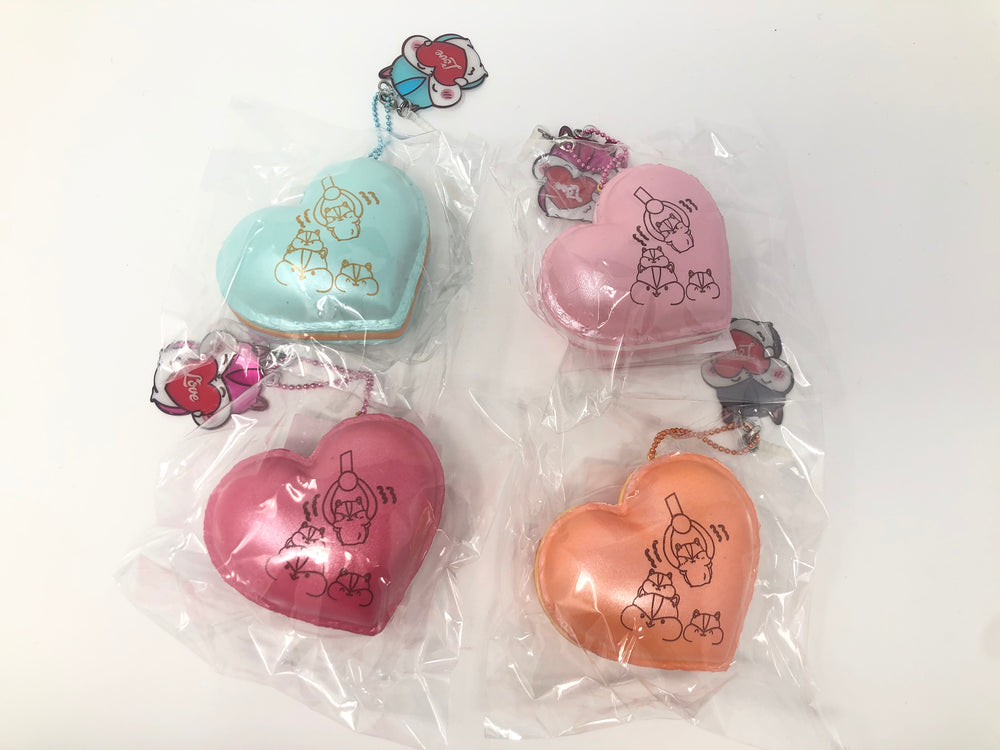 Poli New Big Heart Macaron Squishy all 4 versions
