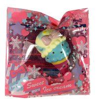 Ibloom Mini Sweet Ice Cream Squishy Blue version side view in packaging