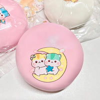 Jumbo Pink and White Poli Bun Squishy
