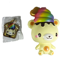 Creamiicandy Rainbow Yummiibear Squishy front view with tag