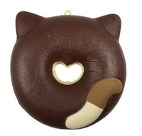 Cafe Sakura Cat Donut Squishy brown and white cat rear view