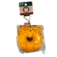 Cafe Sakura Cat Donut Squishy brown cat front view in packaging