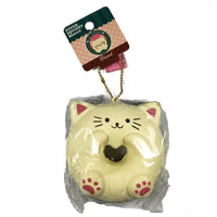 Cafe Sakura Cat Donut Squishy white cat front view in packaging