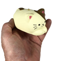 Cafe Sakura Coppe Pan Cat Bread Squishy white cat held in hand