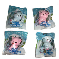 Puni Maru's Mini Happy Polar Bear Squishy all 4 versions in packaging
