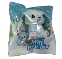 Puni Maru's Mini Happy Polar Bear Squishy Blue Tongue Version front view in packaging