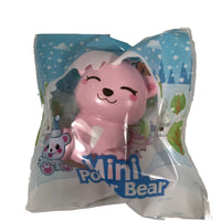 Puni Maru's Mini Happy Polar Bear Squishy Pink Smile Version front view in packaging