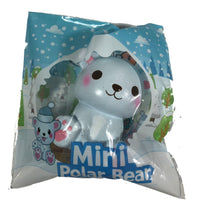 Puni Maru's Mini Happy Polar Bear Squishy Blue Smile Version front view in packaging