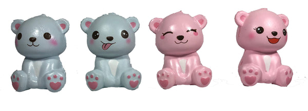 Puni Maru's Mini Happy Polar Bear Squishy all 4 versions front view