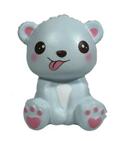 Puni Maru's Mini Happy Polar Bear Squishy Blue Tongue Version front view