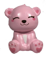 Puni Maru's Mini Happy Polar Bear Squishy Pink Smile Version front view
