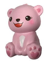 Puni Maru's Mini Happy Polar Bear Squishy Pink Open Mouth Version front view i