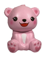 Puni Maru's Mini Happy Polar Bear Squishy Pink Open Mouth Version front view