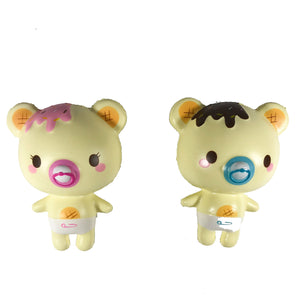 Creamiicandy Baby Yummiibear Squishy both versions front view