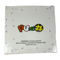 Puni Maru Animal Donut Squishy Featuring Cheeki rear of packaging