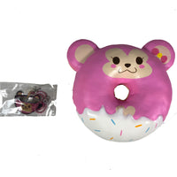 Puni Maru Animal Donut Squishy Featuring Cheeka front view with tag