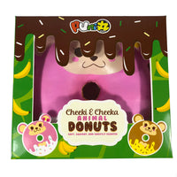 Puni Maru Animal Donut Squishy Featuring Cheeka front view in display box