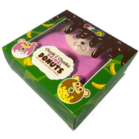 Puni Maru Animal Donut Squishy Featuring Cheeka side view in display box