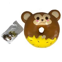 Puni Maru Animal Donut Squishy Featuring Cheeki front view with tag