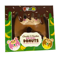 Puni Maru Animal Donut Squishy Featuring Cheeki front view in display box