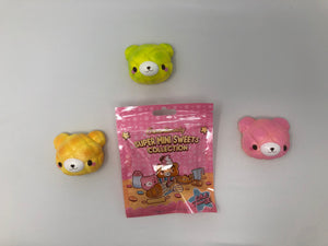 Creamiicandy Mini Sweets Collection Cute Bear Melon Bun Squishy