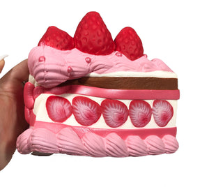 iBloom Princess Shortcake Squishy Strawberry Chocolate version side view held in hand