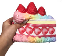 iBloom Princess Shortcake Squishy Rainbow version side view held in hand