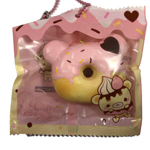 Creamiicandy Yummiibear Mini Donut Squishy Strawberry Delight front view in packaging