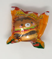 Big Yummiiburger Squishy open eyes version front view in packaging