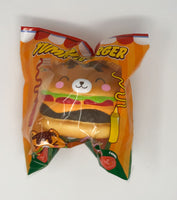 Big Yummiiburger Squishy closed eyes version front view in packaging