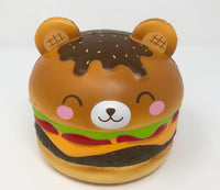 Big Yummiiburger Squishy closed eyes version front view
