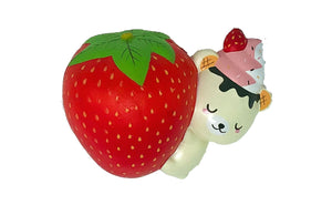 Creamiicandy Yummibear Hug Strawberry Squishy front view