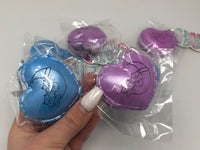 Poli Purple and Blue Night Time Heart Macaron Squishy