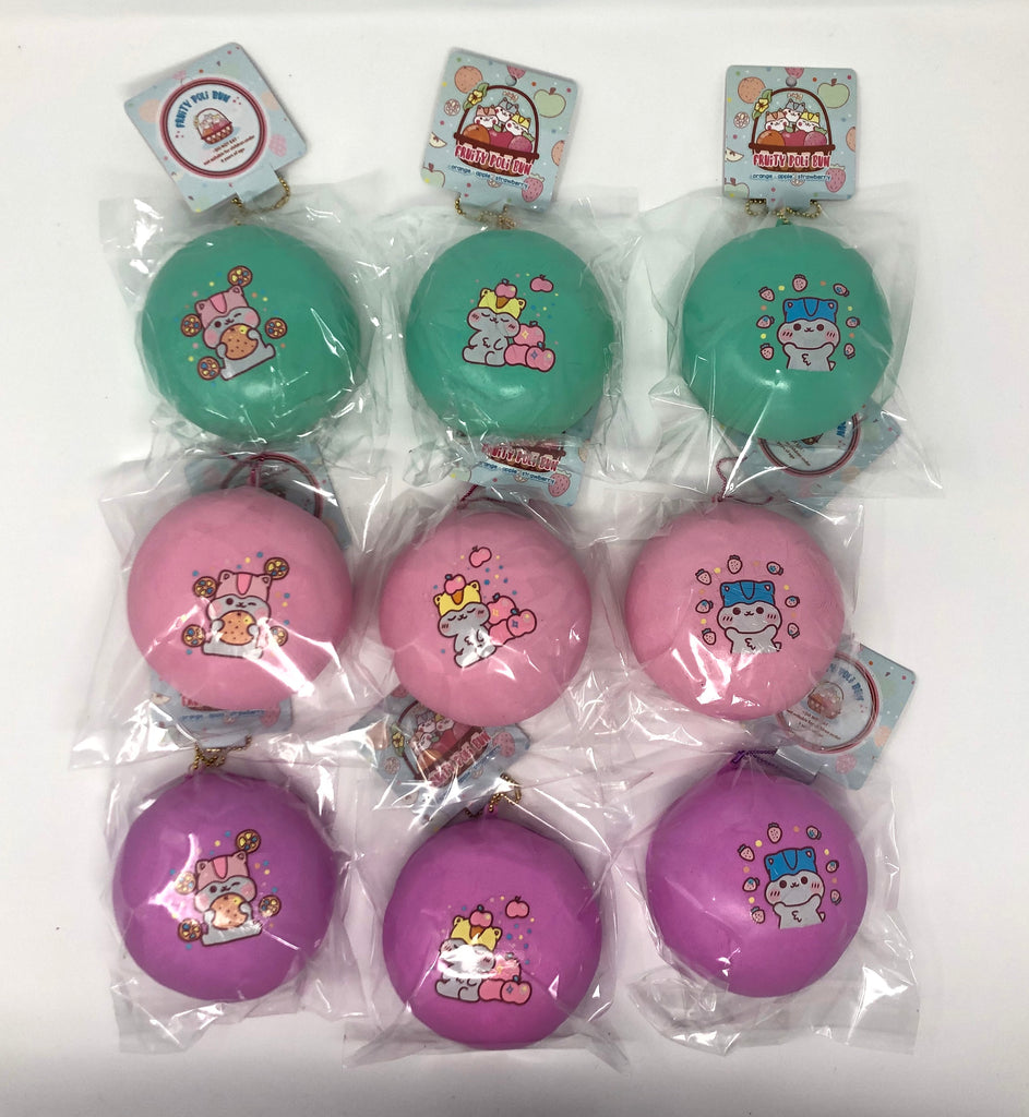 Poli Fruity Colorful Bun Squishy