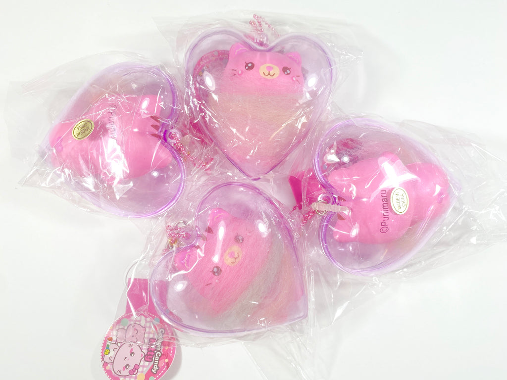 Puni Maru Cotton Candy Kitty in a Heart Squishy