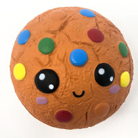 Cookie Squishy with Smiling Face front view