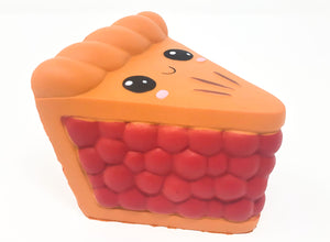 Berry Pie Squishy with Smiling Face side view
