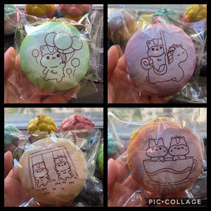 Pre-Order Poli Colored Sugar Bun Squishy
