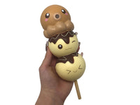 Puni Maru Animal Dango Series Squishy Octopus version front view held in hand