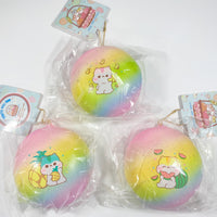 Poli Jumbo Rainbow Tropical Fruity Bun Squishy