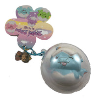 Puni Maru Magical Baby Dragon Green (Spike) version in Blue (Dipsy) capsule packaging