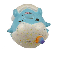 Puni Maru Magical Baby Dragon Green (Spike) version in Blue (Dipsy) top view