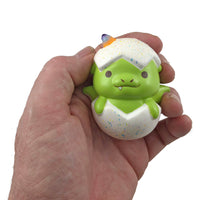 Puni Maru Magical Baby Dragon Green (Spike) version held in hand